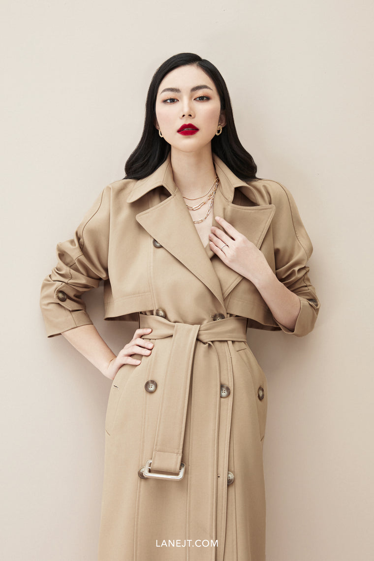 TOMMY Bat-wing Trench Coat