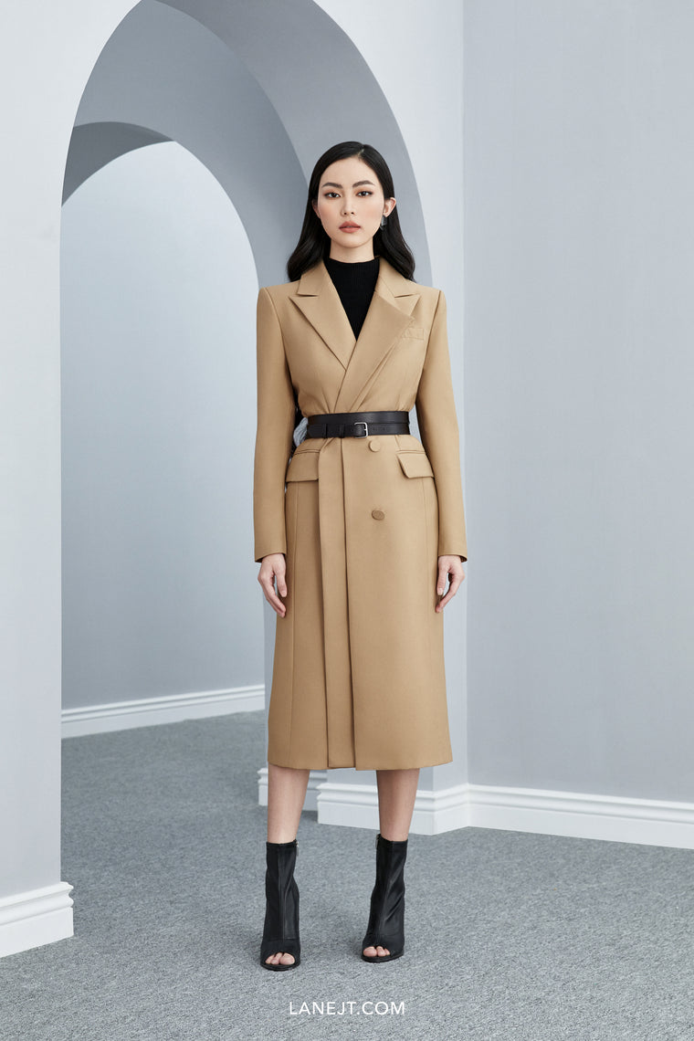 HUBERT Double Lapel Coat