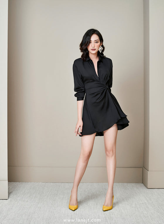 Wrap Side Shirt Dress