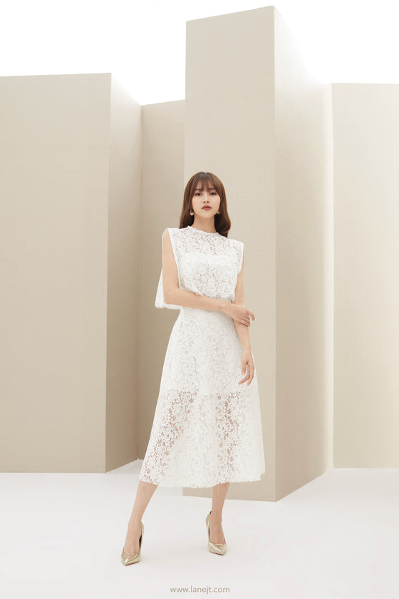 AGACE Lace Midi Dress