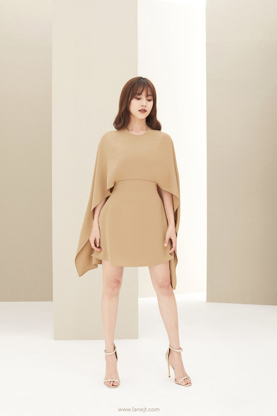 LACROCHE Cape Effect Dress
