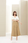 Khaki Draped Trouser