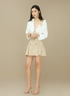 HARPER A-line Trench Mini Skirt with belt