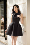 Bow Collar Bell Mini Dress