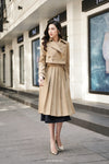 THOMAS Pleated Trench Coat