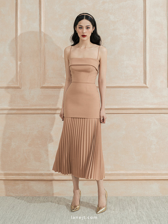 LAURENT Pleated Mini Dress