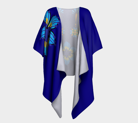 Talavera Navy Draped Shrug