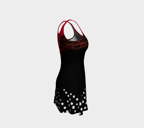 Dot Skater Red Black