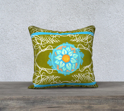 Flor 18 x 18 Pillow case only