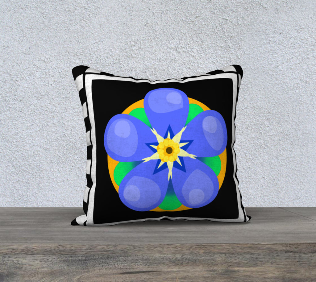 Forget Me Not 18 x 18 pillow case