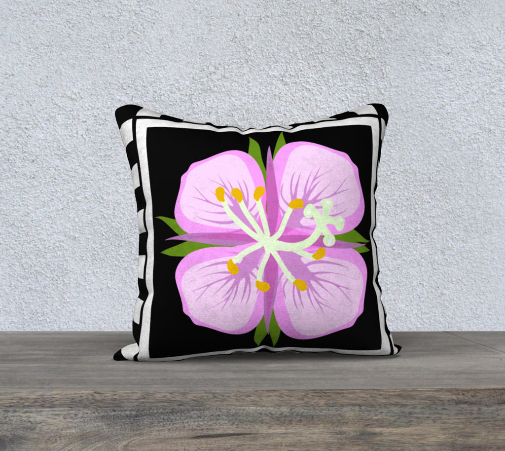 Fireweed 18 x 18 pillow case