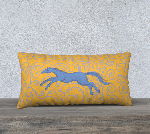 Jumping Pony Pillow 24 x 12 case only