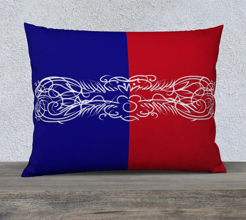 Red White and Blue scroll sofa (case only)