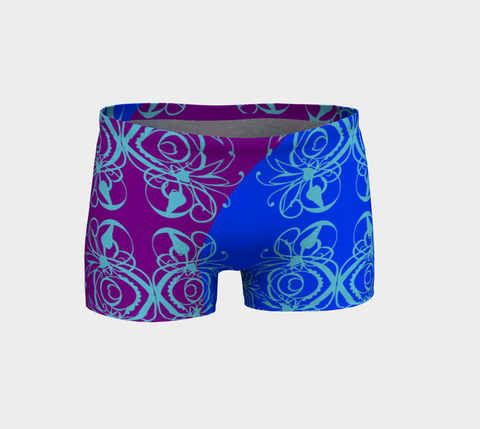 Bright Flower Blue Short