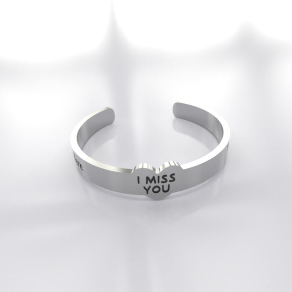 "I Miss You ""Name And Date"" Memorial Ring"