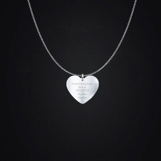 "A piece of my heart my mom ""Name Necklace"""
