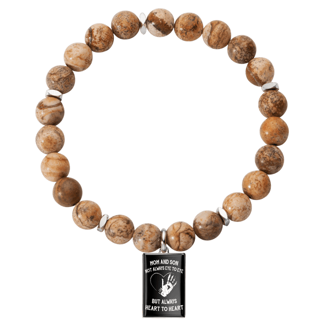 Mom and son always heart to heart bracelet
