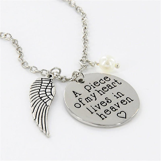 A piece of my heart lives in heaven Pendant