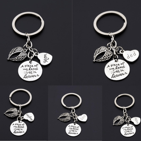 A Piece Of My Heart Is In Heaven Memorial Keychain