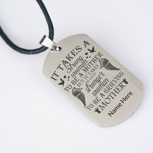 "To be a grieving mother ""Personalized Necklace"""