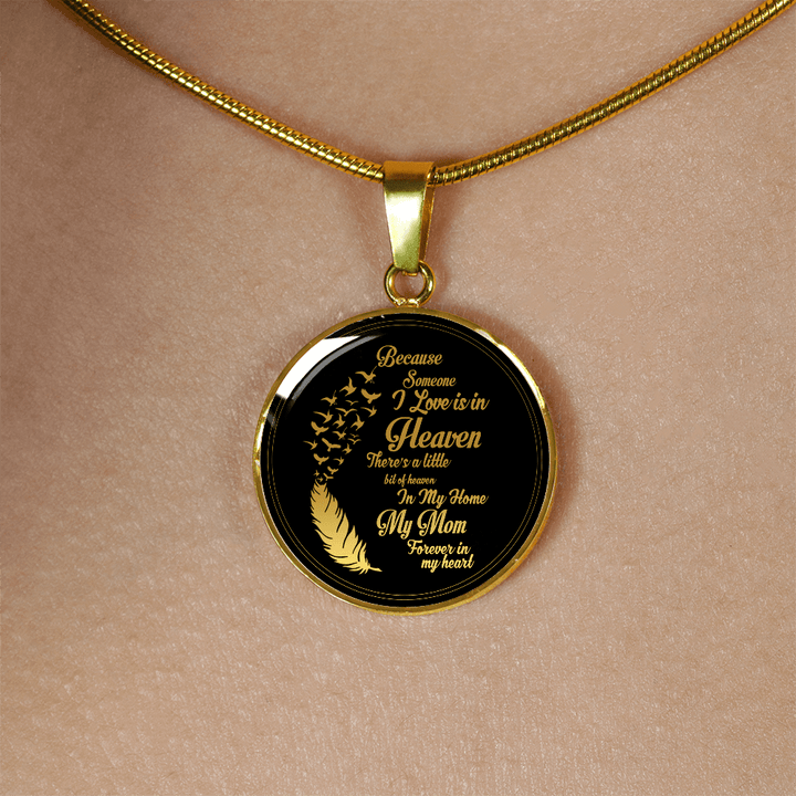 "Because someone i love is in heaven ""Personalize Necklace"""