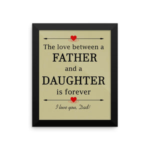 Framed Poster - Beautiful Father And A Daughter Love Framed Print