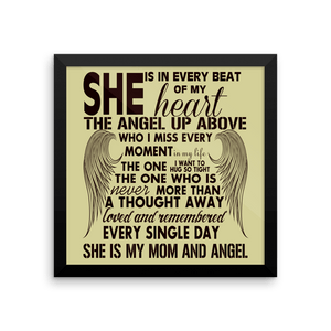 Framed Poster - She Is My Mom And Angel Framed Print