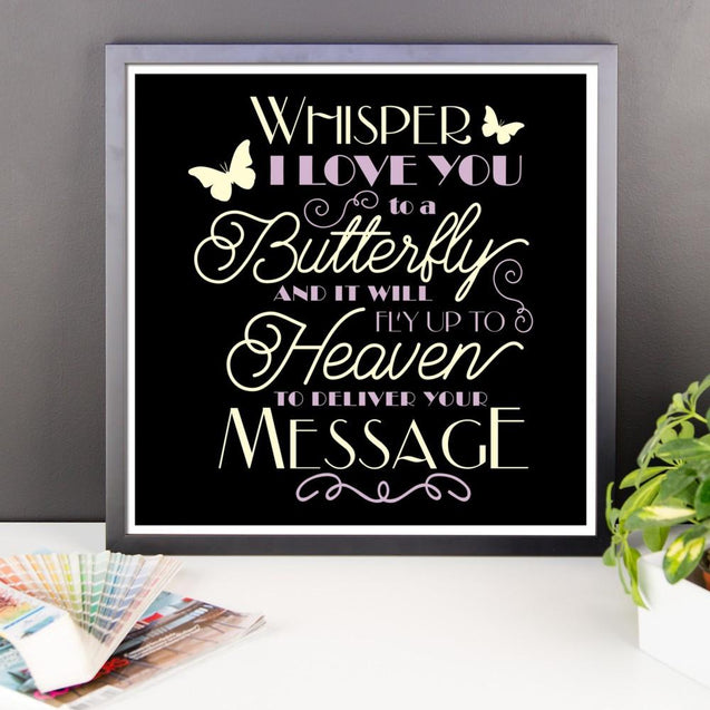 Framed Poster - Whisper I Love You Framed Print