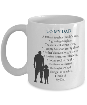 To My Dad Memorial Mug