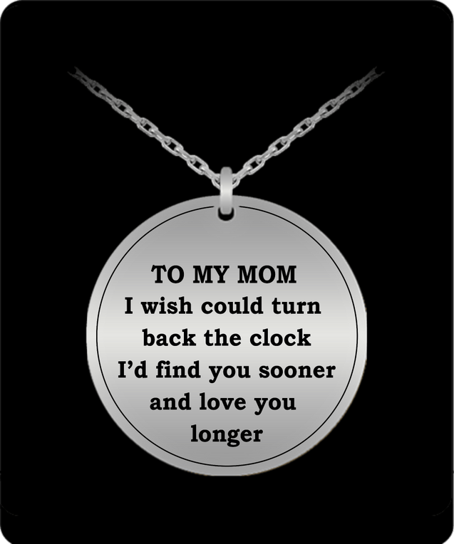 To my mom engraved necklace