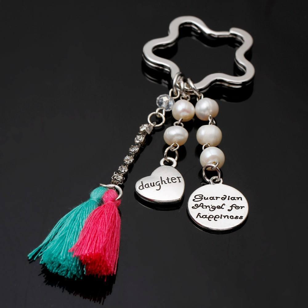 Keychain - New Guardian Angel For Happiness Daughter Keychain