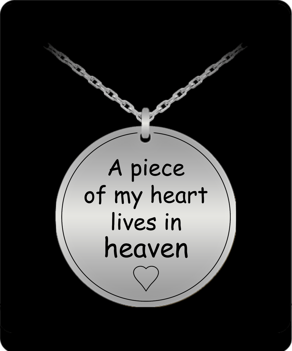 A piece of my heart engraved necklace perveengoods laser engraved necklace a piece of my heart engraved necklace aloadofball Gallery