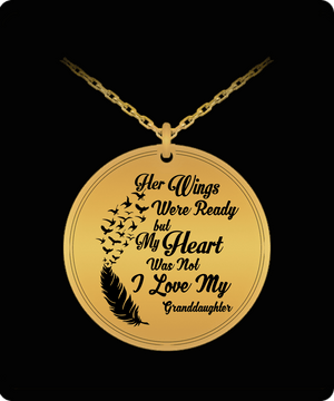 Laser Engraved Necklace - I Love My Granddaughter Engraved Necklace
