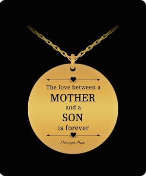 Laser Engraved Necklace - Mother And Son Engraved