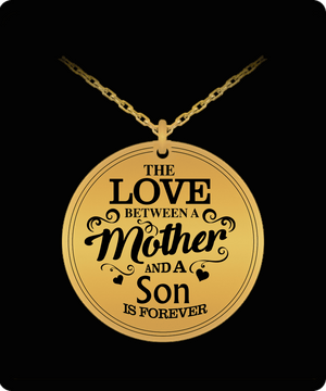 Laser Engraved Necklace - Mother And Son Engraved Necklace