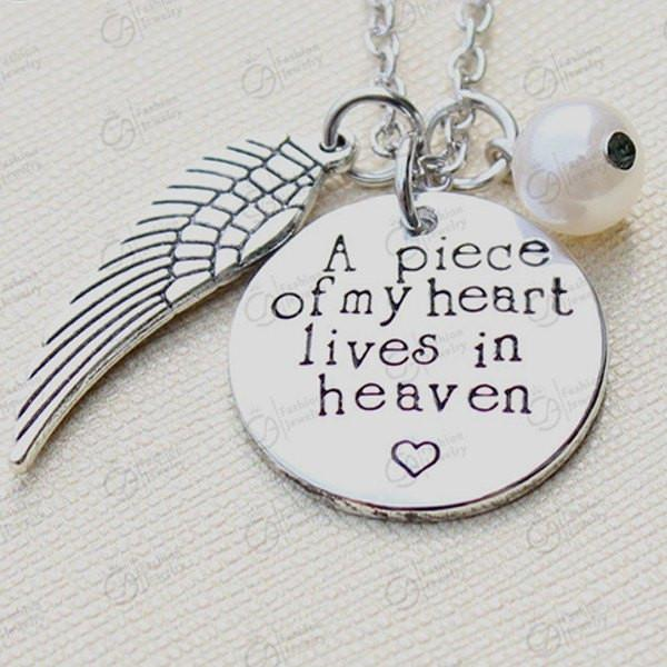 Necklace - A Piece Of My Heart Lives In Heaven Pendant