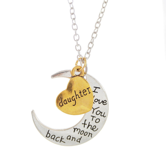 Necklace - I Love You To The Moon And Back Daughter Necklace