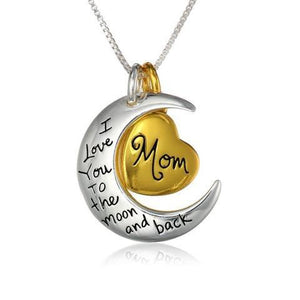 Necklace - I Love You To The Moon And Back Mom Necklace