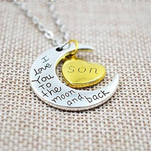 Necklace - I Love You To The Moon And Back Son Necklace