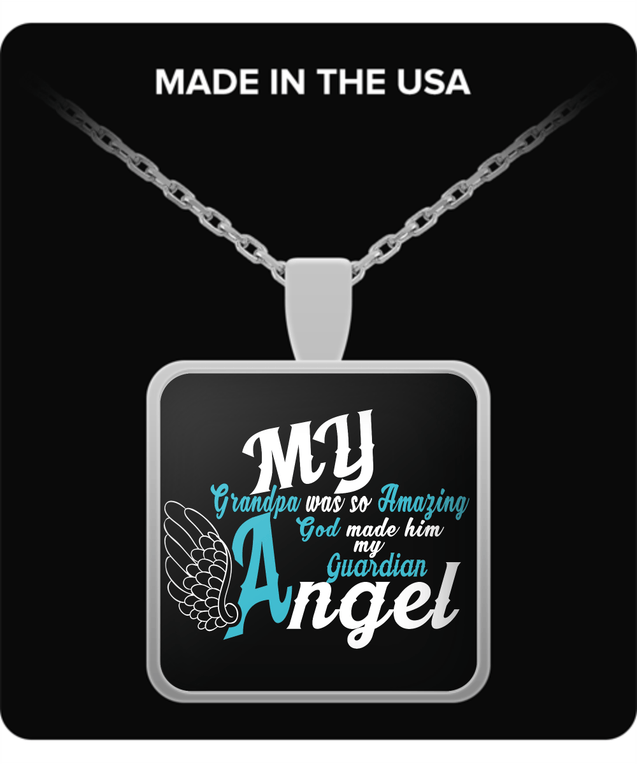 Necklace - My Grandpa Is My Guardian Angel