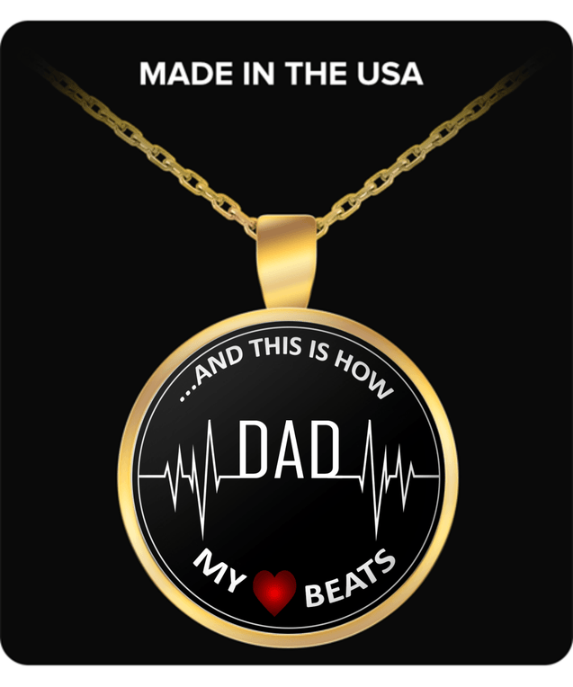 "Necklace - My Heart Beats ""Dad"""