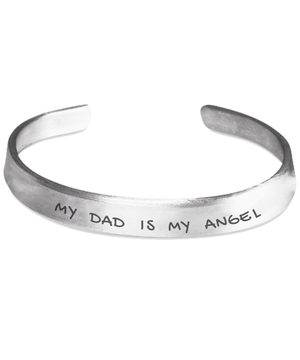 Personalised Bracelet - My Dad Is My Angel Bracelet
