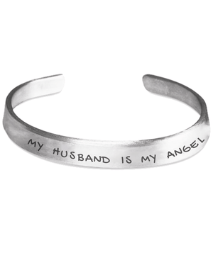 Personalised Bracelet - My Husband Is My Angel Bracelet