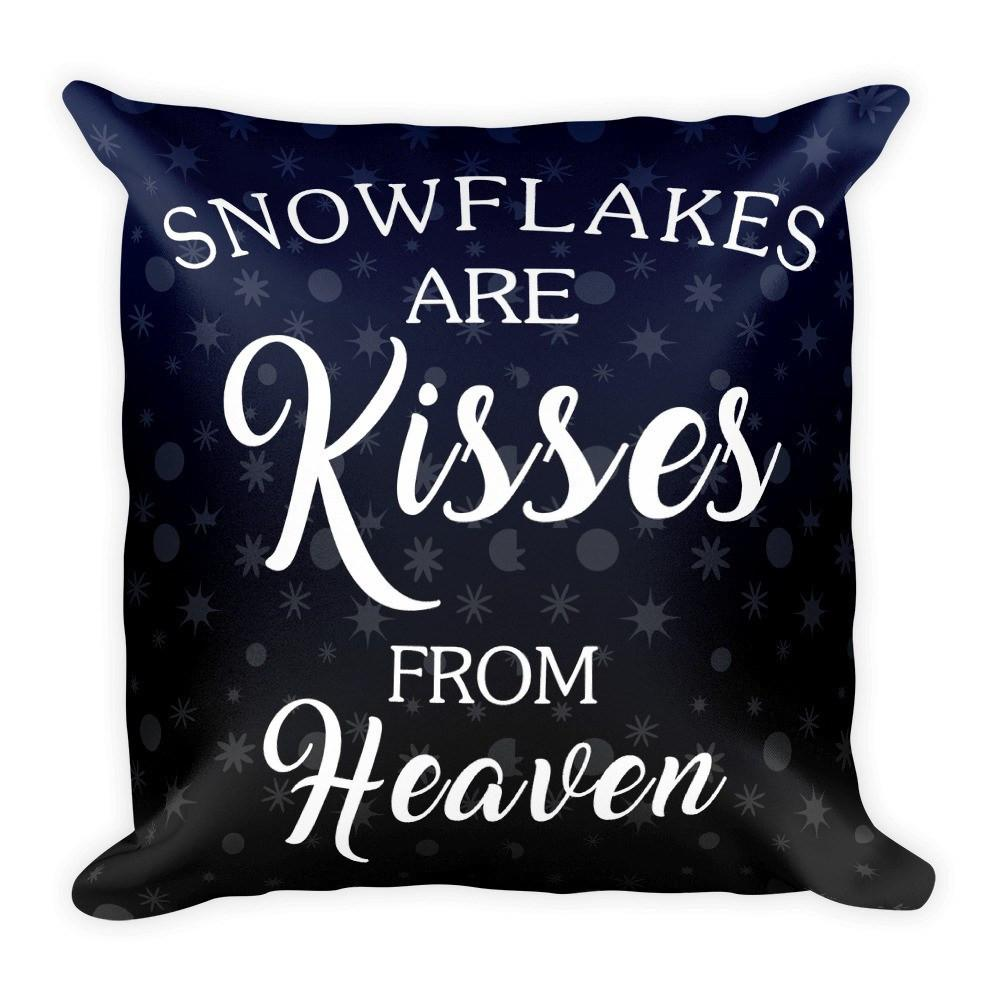 Pillows - Snowflakes Are Kisses From Heaven Pillow