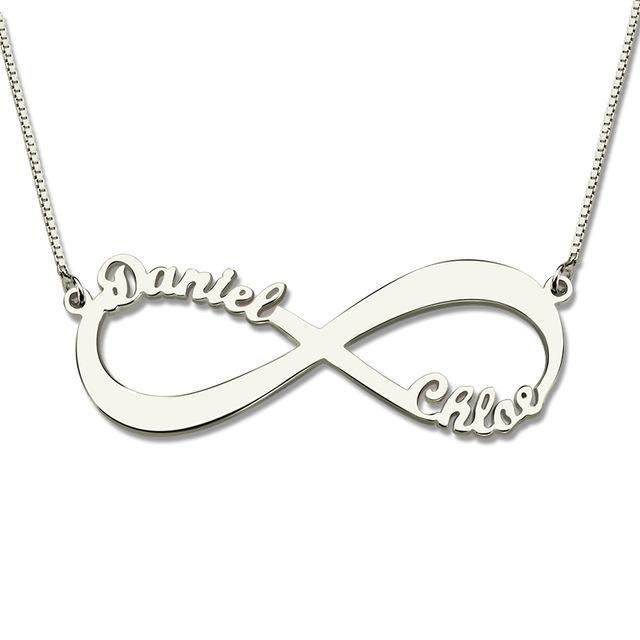 Personalized Infinity Symbol Name Necklace Perveengoods