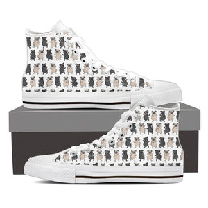 Shoes - Pug Print Canvas Shoes