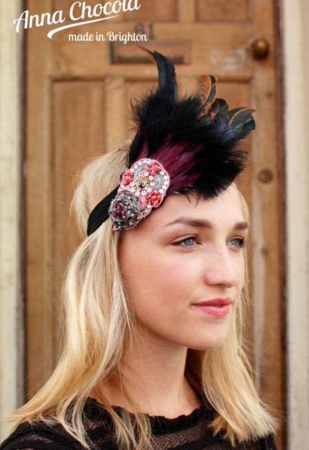 1920s Flapper Feather Headband - Anna Chocola® 2013