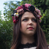 Handmade silk flowers crown