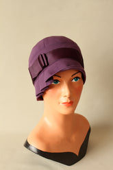Inès Purple Wool Cloche Hat - Anna Chocola