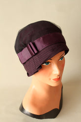 Inès Purple Cloche Hat - Anna Chocola